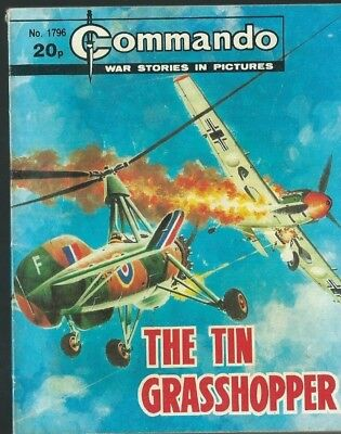 The Tin Grasshopper,commando War Stories In Pictures,no.1796,war Comic,1984