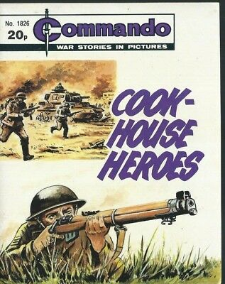 Cook House Heroes,commando War Stories In Pictures,no.1826,war Comic,1984