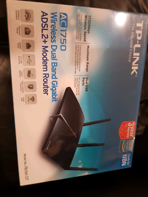 TP LINK AC1750 ARCHER D7 Modem Router, NBN ready.  1750 Mbps. Brand new unopened