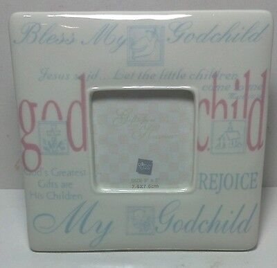 Russ Berrie for GIRLGodchild Gifts from Heaven (pink)Godparent porcelain frame