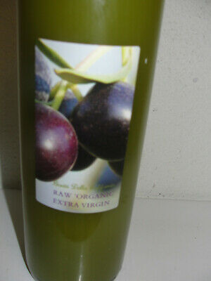 Organic,  Unfiltered, Raw Extra Virgin  Olive Oil .