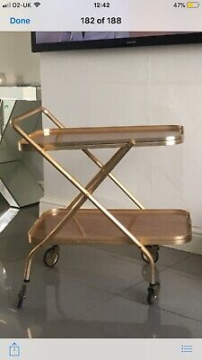 Antique Vintage Serving Trolley Tray