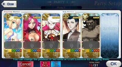 Fate Grand Order Starter Account FGO NA English 5* Karna