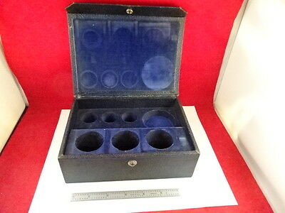 Empty WOOD container for lenses MICROSCOPE PART BAUSCH LOMB AS IS #Y7-H-90