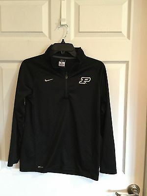 Nike Dri-Fit Brand Girls Size Large Shirt Pullover With Zipper  Purdue Labeled