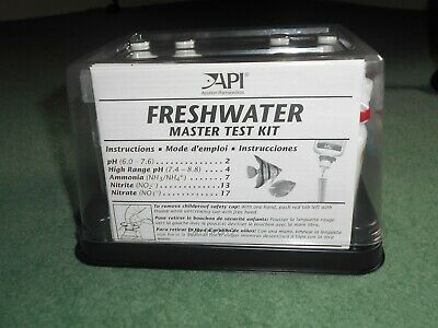 API Freshwater Master Test Kit, Kit includes laminated color card, 4 test tubes