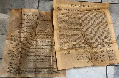 The Declaration of Independence & Congress Large Replica Parchment Paper