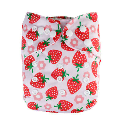 Baby Cloth Diaper Washable Waterproof Leakproof Adjustable Diaper Pocket Nappy A