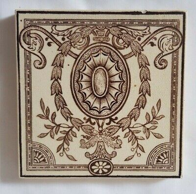 Stunning Elegant Craven Dunnill & Co 10Cm Square Antique Tile