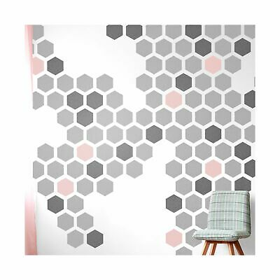 HEXAGON Geometric Modern Stencil - Furniture Wall Floor Stencil for Painting