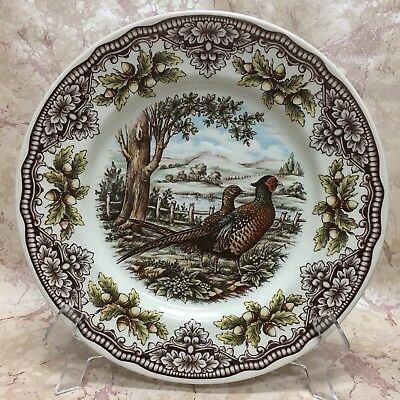 """(2) The Victorian English Pottery Homeland PHEASANT 11"""" DINNER PLATES NEW!"""