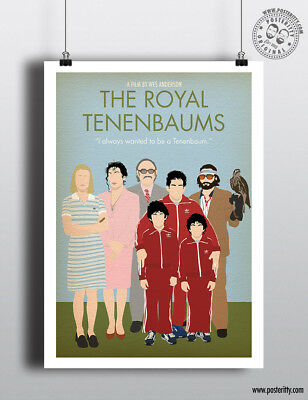 ROYAL TENENBAUMS - Minimalist Movie Poster Minimal Print Wes Anderson Art Film
