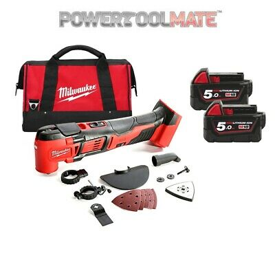 Milwaukee M18BMT-502B 18V Compact Multi-Tool, x2 5.0Ah Batteries, Charger and Ba