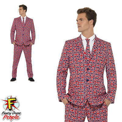 Mens Stand Out Union Jack Suit Stag Do Costume British Party Funny Fancy Dress