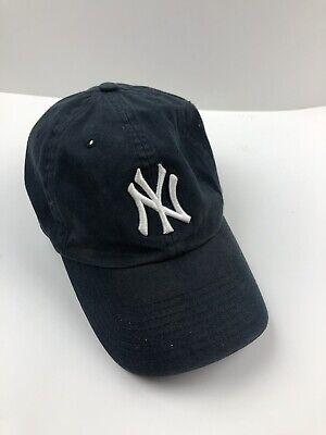 061faf01dc2 New York Yankees 47 Brand Clean Up Adjustable On Field Cotton Blue Hat Cap  MLB