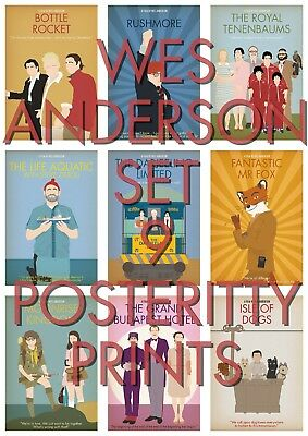 WES ANDERSON COLLECTION 9 POSTERS  Minimalist Movie Prints Minimal Art Film