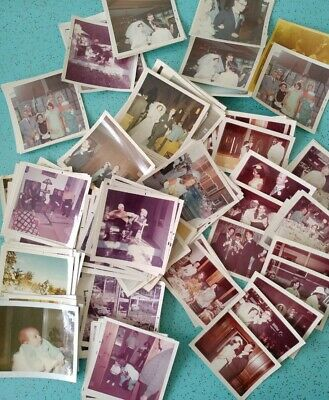Lot of 100+ Vintage Photos Mostly from 1968 Wedding Square and Rectangular