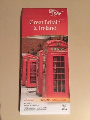 AAA Great Britain & Ireland International Travel Road Map 2016-2019