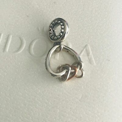 ~ Authentic Pandora Silver Charm Heart Highlights Dangle #787247Nlcmx