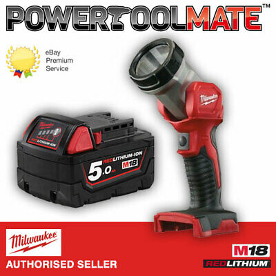 Milwaukee M18B5 18V 5.0Ah Lithium-Ion Battery (Body Only) Comes with FREE TORCH