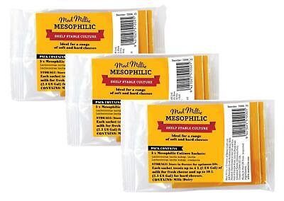 3 x MAD MILLIE Mesophilic (MW3) Culture 5 Sachet Packs - Cheese Making