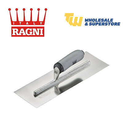 """Ragni 11"""" FeatherEdge Easi-Grip Stainless Steel Ground Finishing Trowel-R618S-11"""