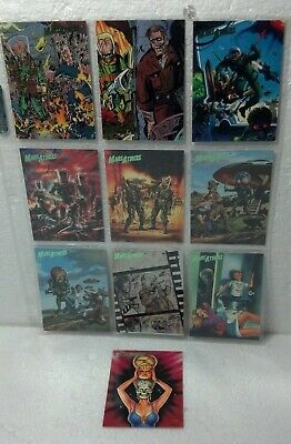 1994 Mars Attacks Topps THE COMICS 10 card set Foil logo NM/VG #67 thru #76
