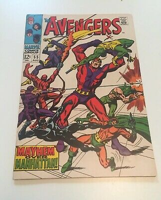 The Avengers #55 1st App Of Ultron (Very Fine)1968