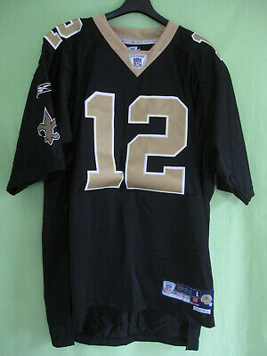 Maillot Football Americain Saints Colston #12 New Orleans Reebok Jersey - L
