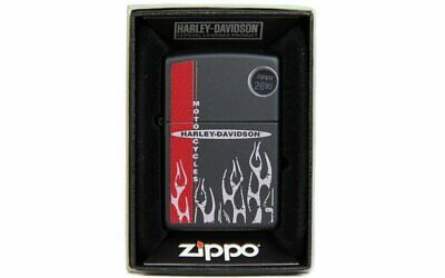 Zippo Harley Davidson Flames, Matte Black, Windproof Lighter #218-CI012004