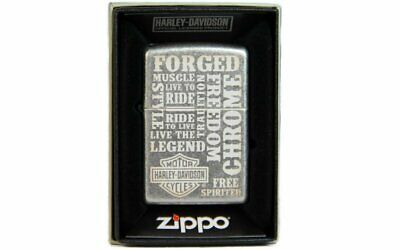 Zippo Harley Davidson Motorcycle Life Quotes, Classic Silver #121FB-MP401157