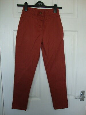 Denim & Co Girls Coral Brown Tapered trousers size 8-9 years