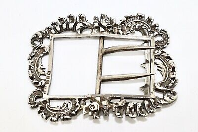 A Lovely Detailed Antique Victorian C1890 Sterling Silver 925 Floral Buckle