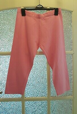 NEXT Girls Pink Cropped Leggings 14-15 Years - GC