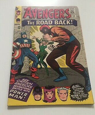 The Avengers#22 Captain America vs Power Man 1965 Excellent Condition