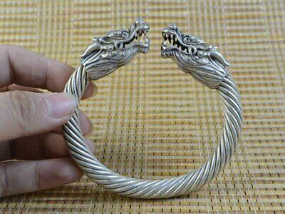 🌹Vintage Silver Bracelet Old Dragon Sacred Of Men Women's Decor Collec Art🌹