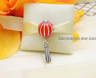 NEW Authentic Pandora CHINESE LANTERN Red Dangle Charm 791299EN08 RETIRED