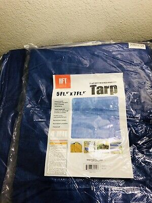 11f8967623d1dd HFT WEATHER RESISTANT Tarp 7 ft. 4 in. x 9 ft. 6 in. Blue Camping ...