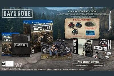 Days Gone Collector's Edition (Playstation 4, 2019) PS4 Region Free Brand New