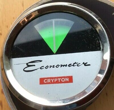 Rare Used 2 Inch  Crypton Economiser Fuel Consumption, Vacuum Gauge