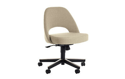 Authentic Knoll® Saarinen Executive Side Chair with Casters | DWR