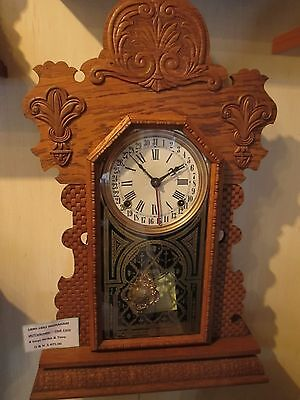 1890 Ingraham Ginger Clock ***With Calendar*** Oak Case