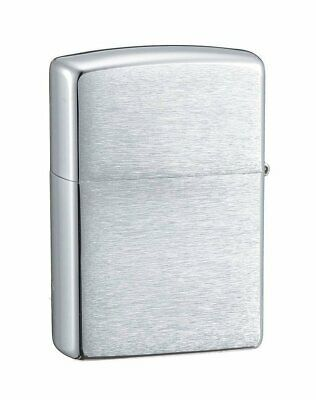 Zippo Lighter Brushed Chrome Finish #200