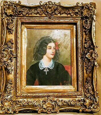 Timeless Treasure Portrait Young  French Woman- Treasure Oil Painting