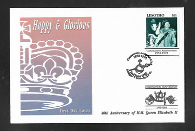 KINGDOM OF LESOTHO - FIRST DAY COVER 40th ANNIVERSARY QUEEN ELIZABETH 11 - 1993