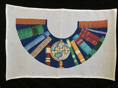 MCA Hand-painted Needlepoint Canvas Bright & Colorful Library Lamp Shade Cover