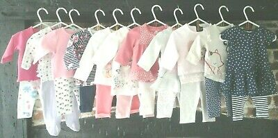 Baby Girl Clothes Bundle 0-3 Months, Mix & match outfits, Next, M&S & more