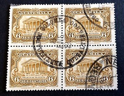 Guatemala 1902 - block of 4 canceled stamps 6 Centavos