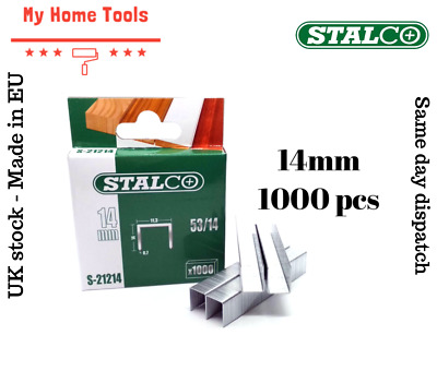1000pc 14mm STAPLES 53A Pack Duty Gun Tacker Staple Upholstery Galvanised Craft