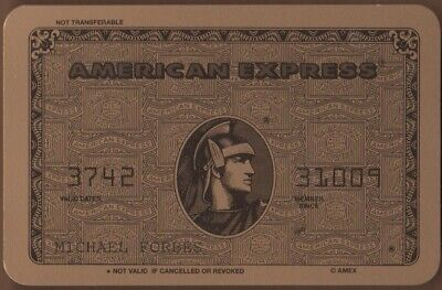 Playing Cards Single Old AMERICAN EXPRESS Gold CREDIT CARD Advertising Banking 3